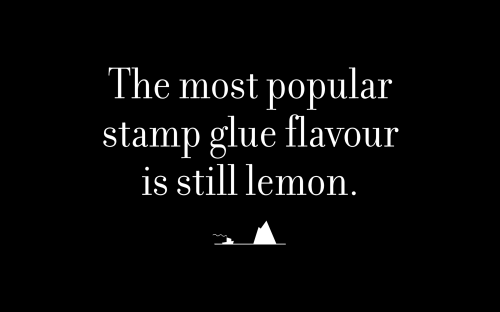 The most popular stamp glue flavour is still lemon.